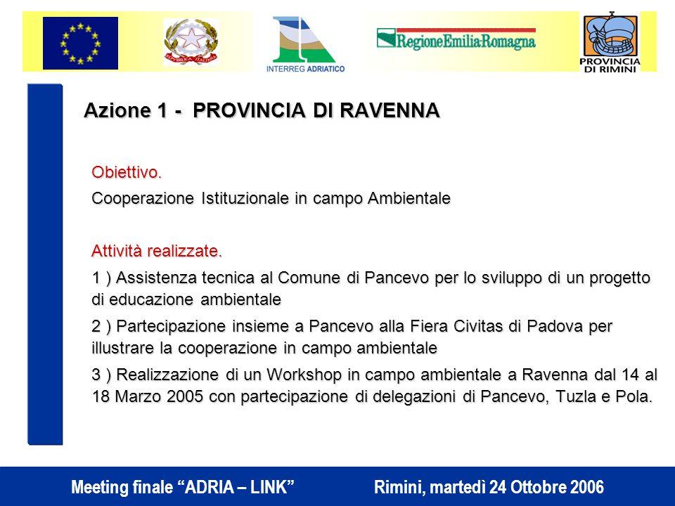 Azione 1 - PROVINCIA DI RAVENNA