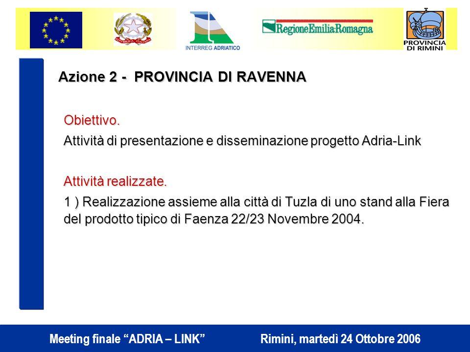 Azione 2 - PROVINCIA DI RAVENNA