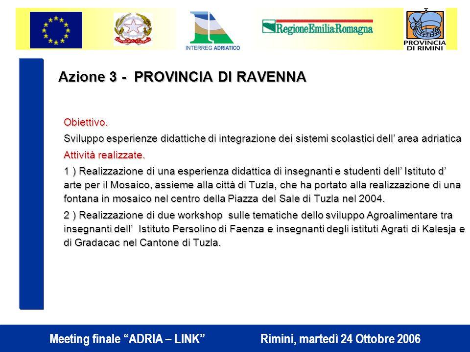 Azione 3 - PROVINCIA DI RAVENNA