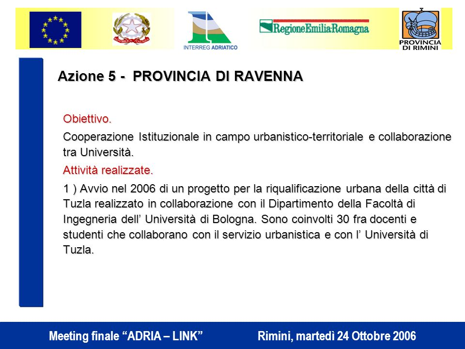 Azione 5 - PROVINCIA DI RAVENNA