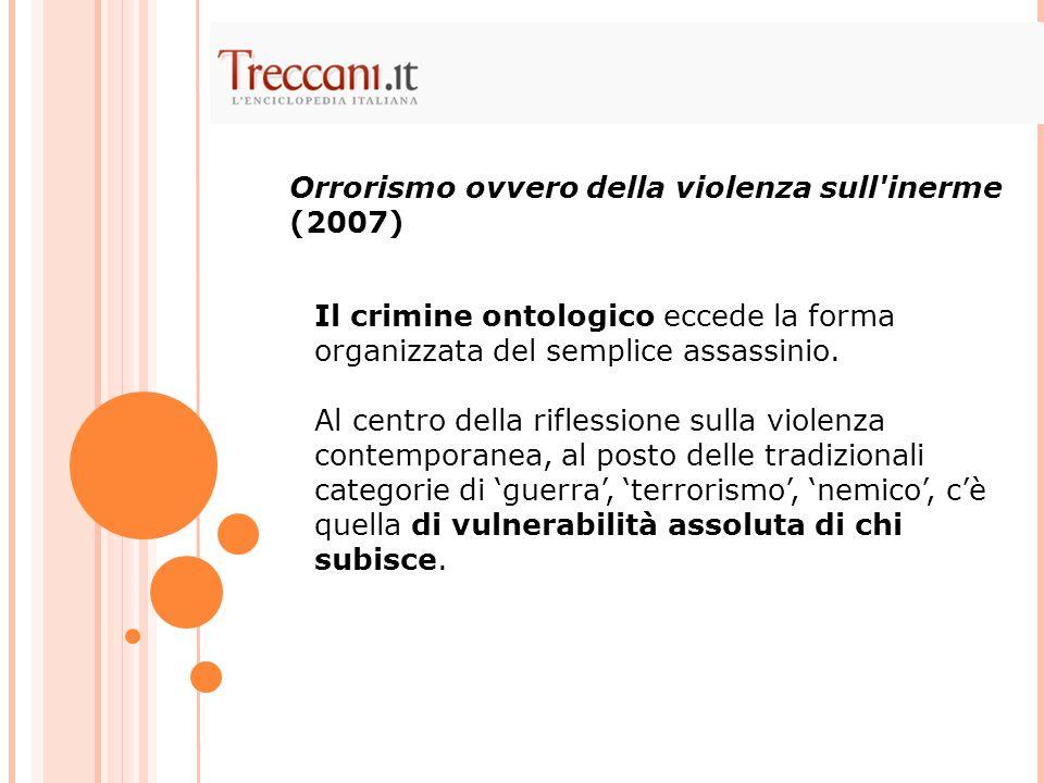 Orrorismo ovvero della violenza sull inerme (2007)