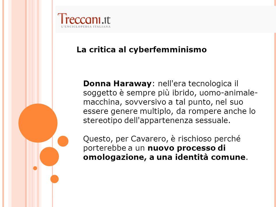 La critica al cyberfemminismo