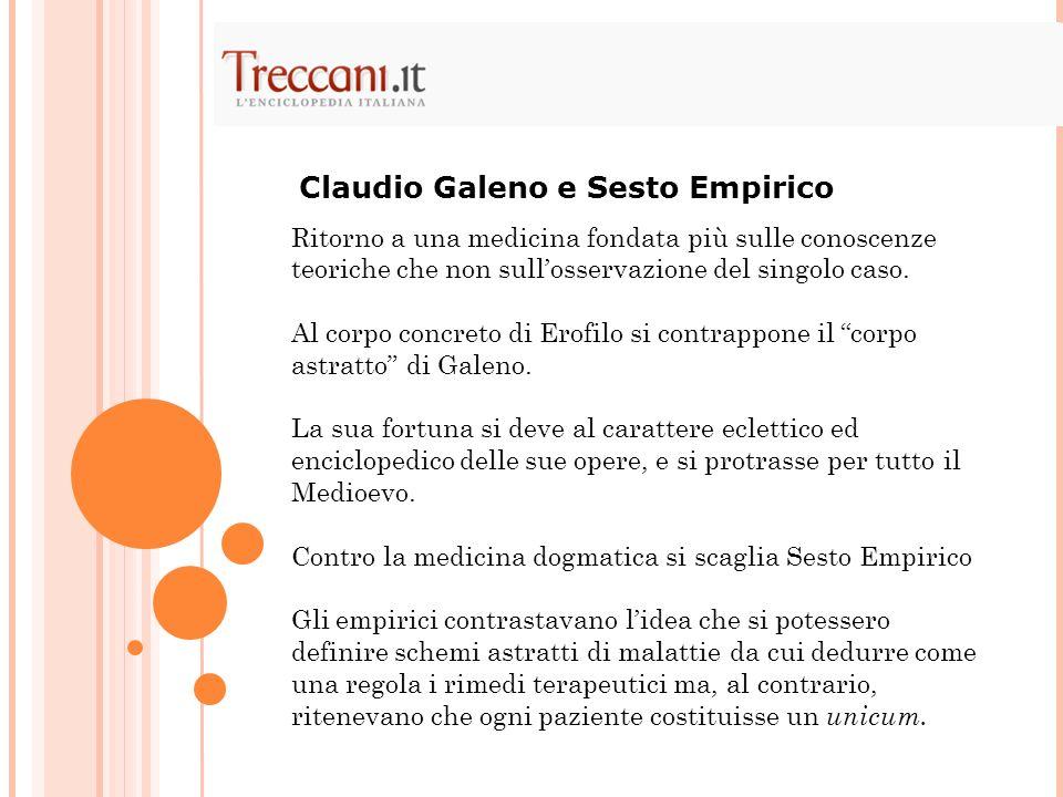 Claudio Galeno e Sesto Empirico