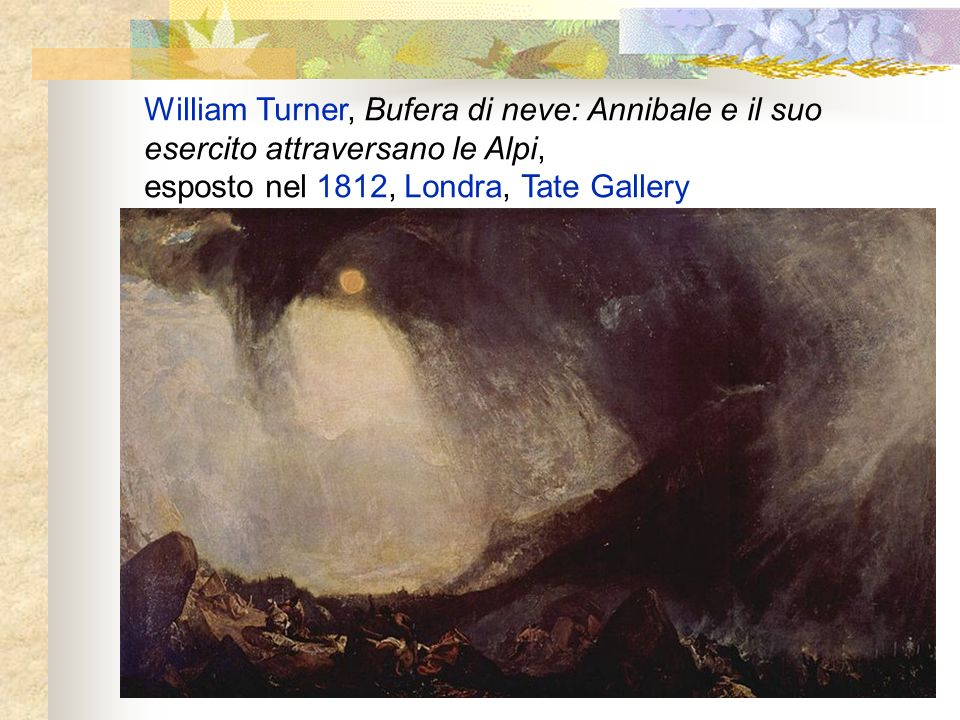 William Turner, Bufera di neve: Annibale e il suo