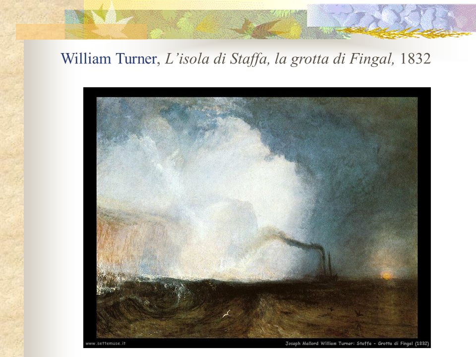 William Turner, L'isola di Staffa, la grotta di Fingal, 1832