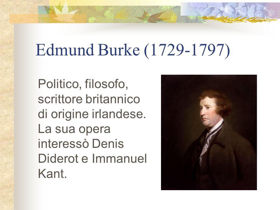 Edmund Burke (1729-1797) Politico, filosofo, scrittore britannico