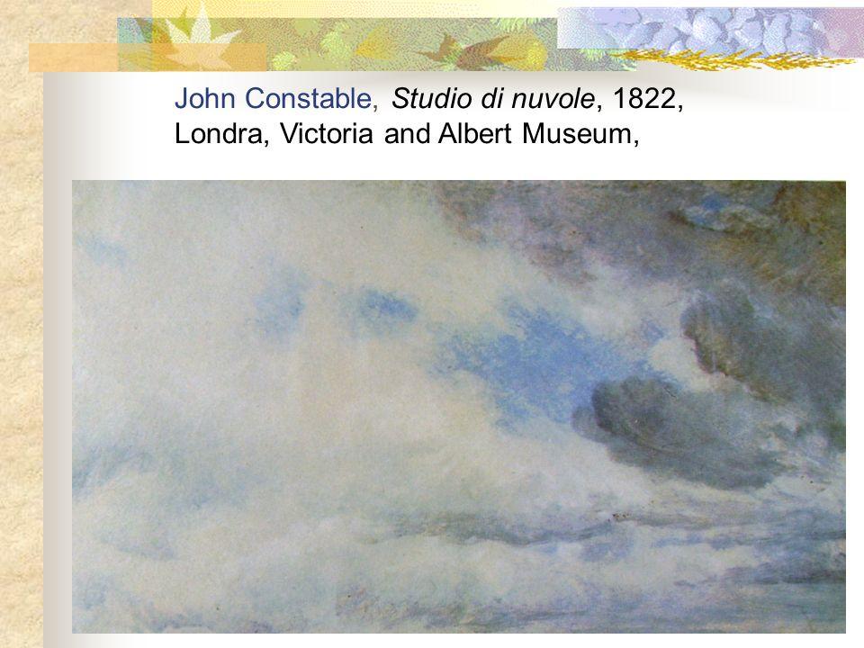 John Constable, Studio di nuvole, 1822,