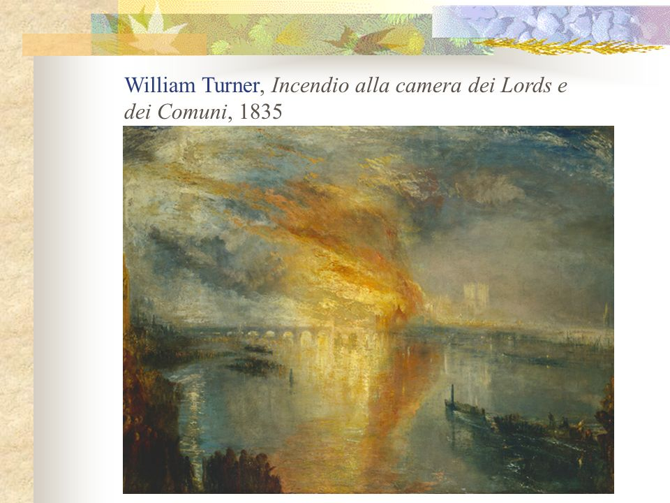 William Turner, Incendio alla camera dei Lords e
