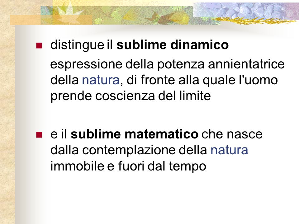 distingue il sublime dinamico