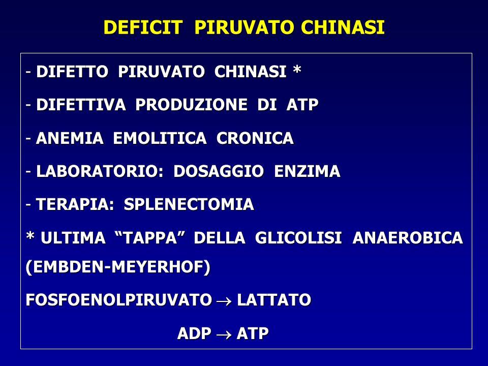 DEFICIT PIRUVATO CHINASI