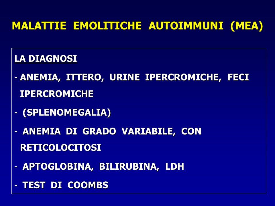MALATTIE EMOLITICHE AUTOIMMUNI (MEA)