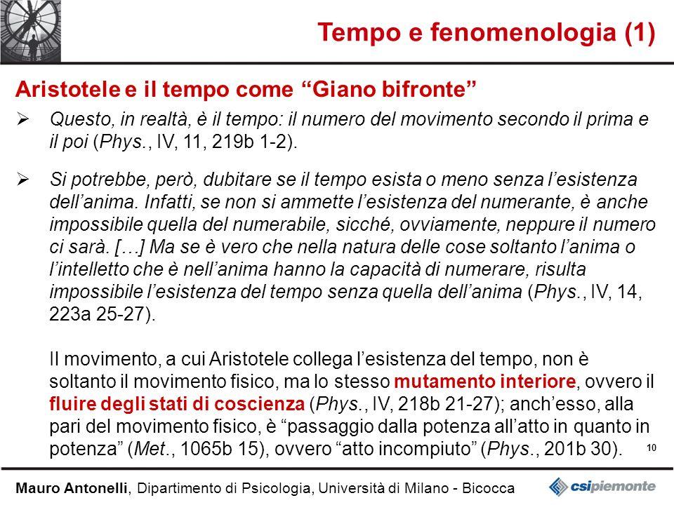 Tempo e fenomenologia (1)
