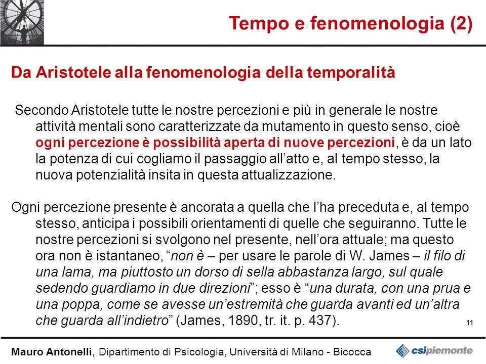 Tempo e fenomenologia (2)