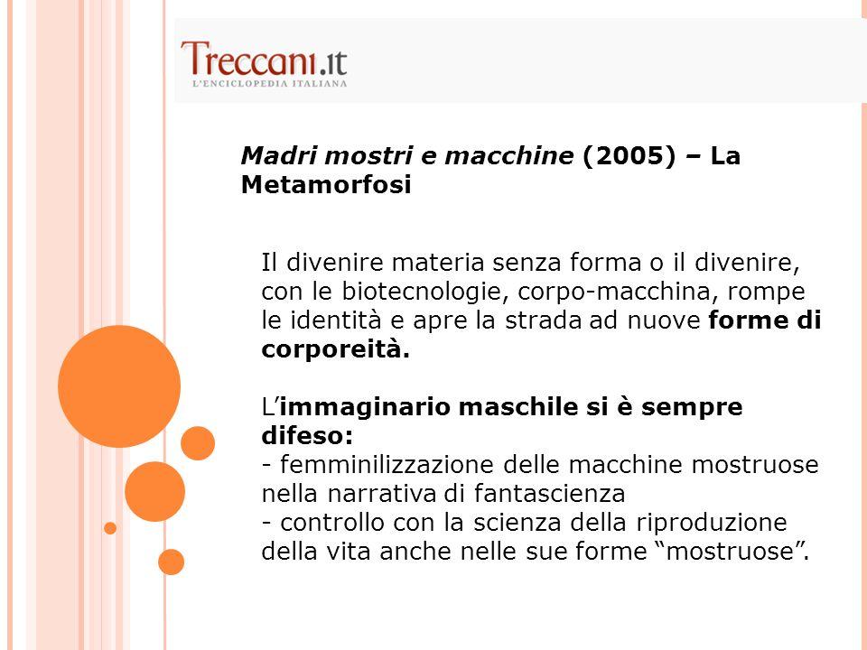 Madri mostri e macchine (2005) – La Metamorfosi
