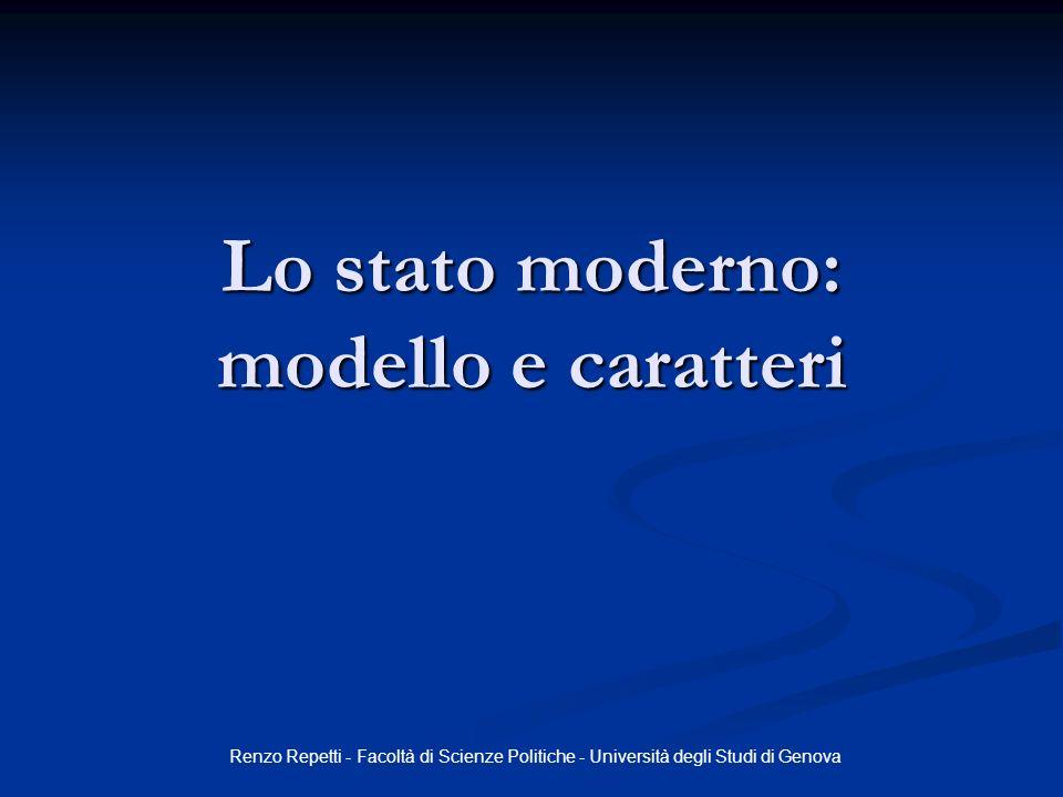 Lo stato moderno: modello e caratteri