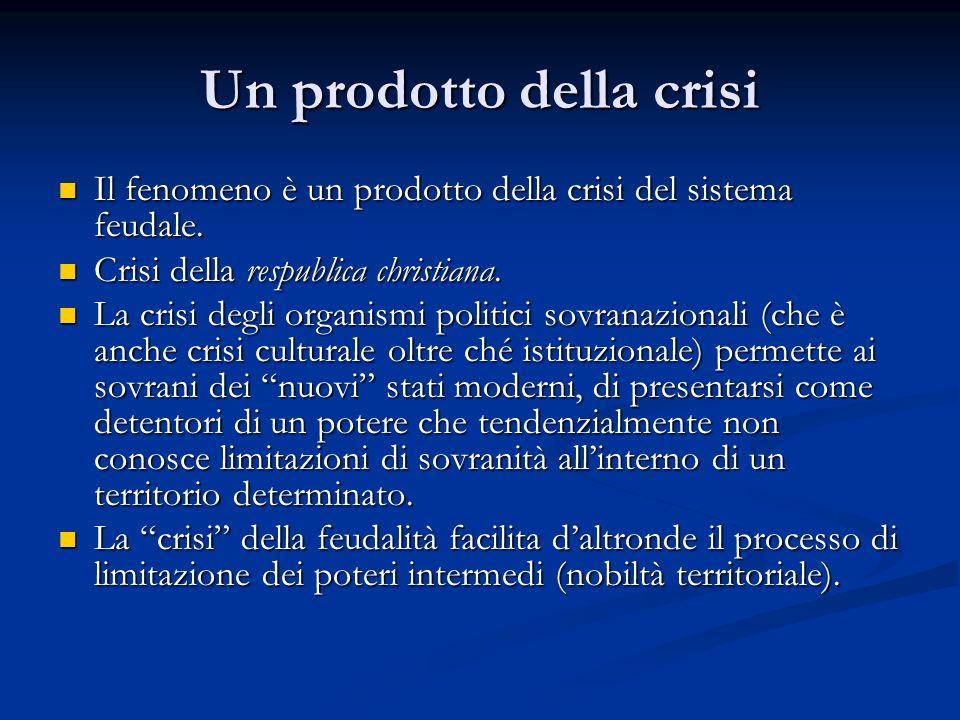 Un prodotto della crisi