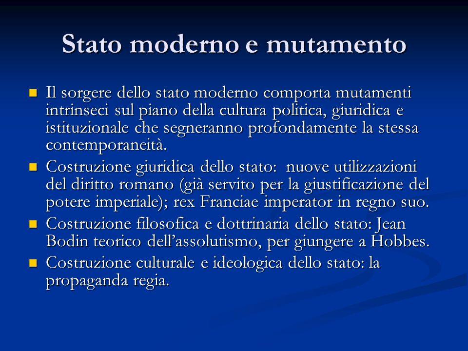 Stato moderno e mutamento
