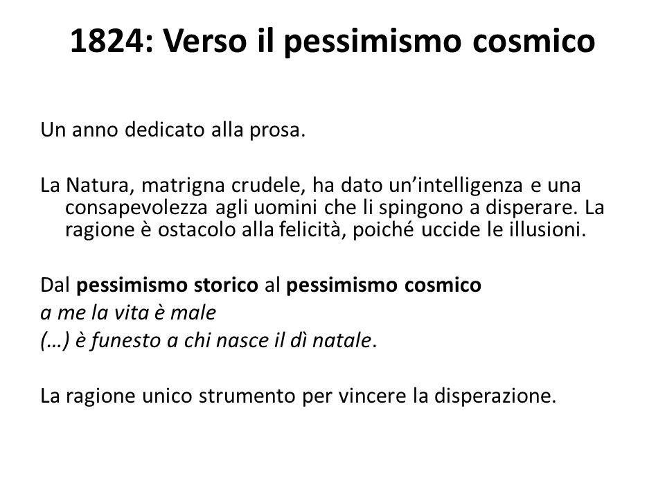 1824: Verso il pessimismo cosmico