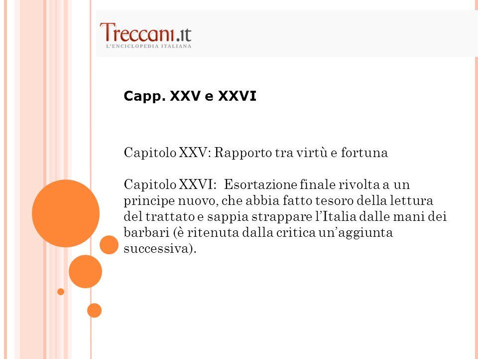 Capp. XXV e XXVI