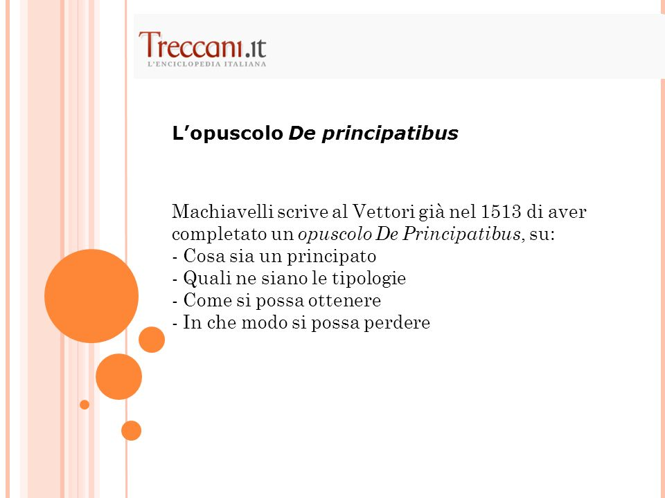 L'opuscolo De principatibus