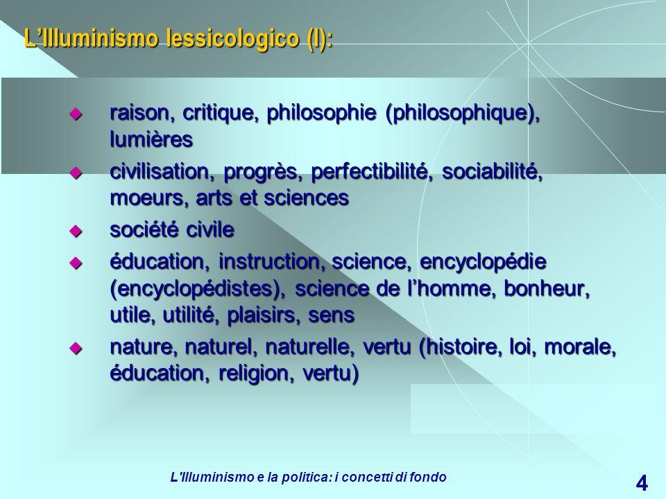 L'Illuminismo lessicologico (I):