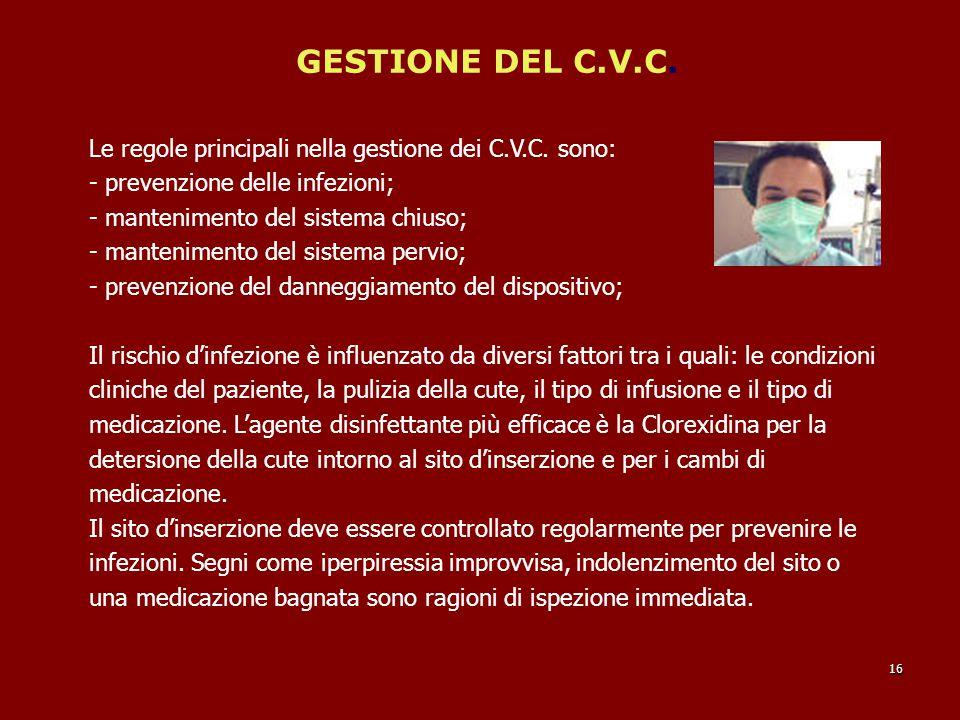 GESTIONE DEL C.V.C.