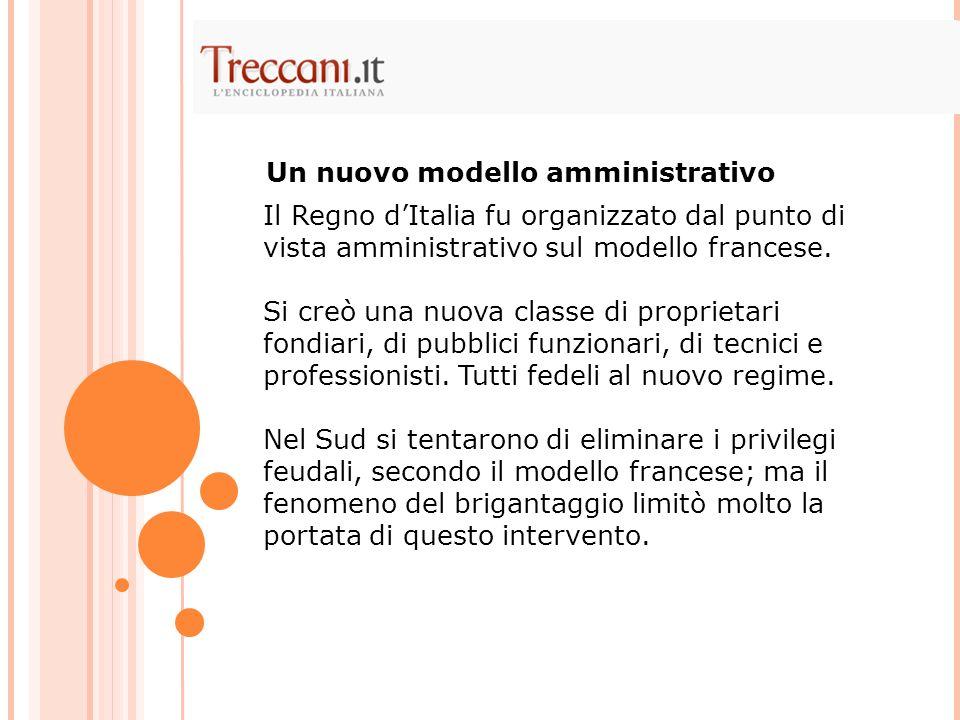 Un nuovo modello amministrativo