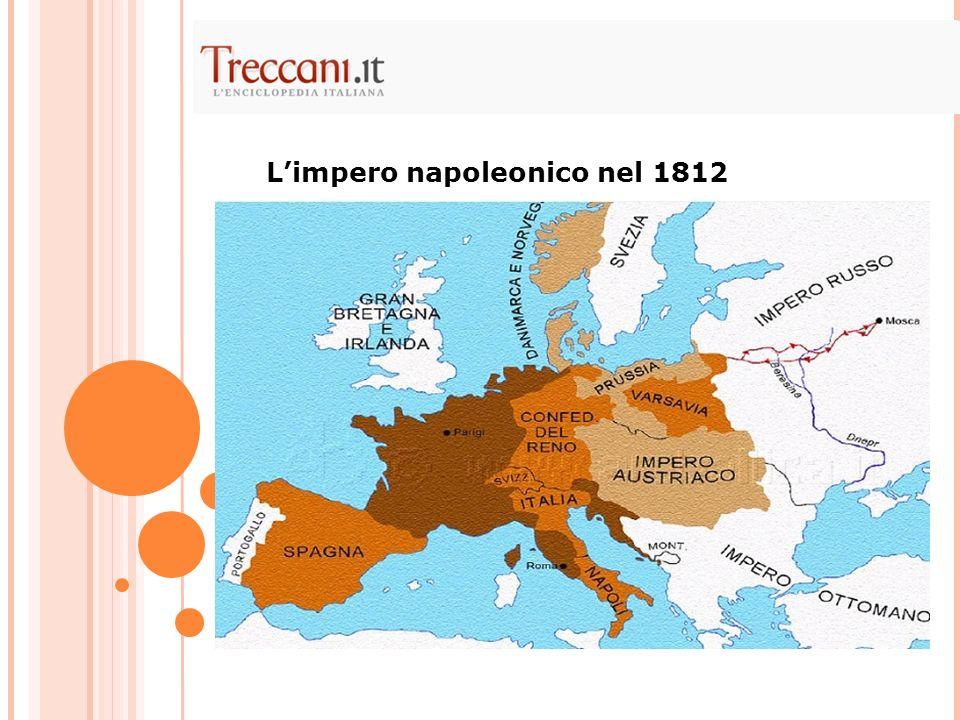 L'impero napoleonico nel 1812