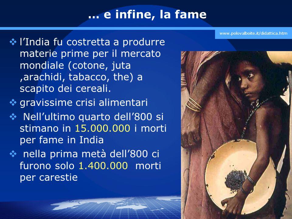 … e infine, la fame www.polovalboite.it/didattica.htm.