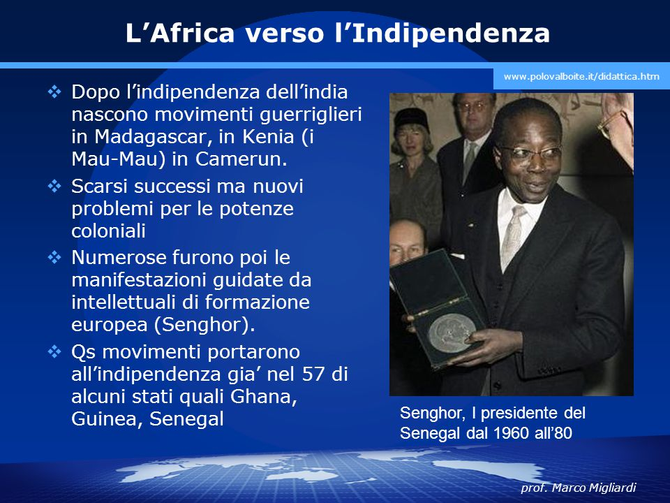 L'Africa verso l'Indipendenza