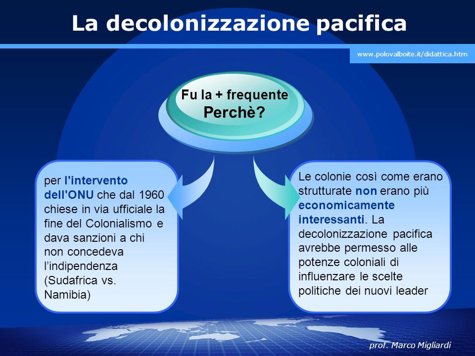 La decolonizzazione pacifica