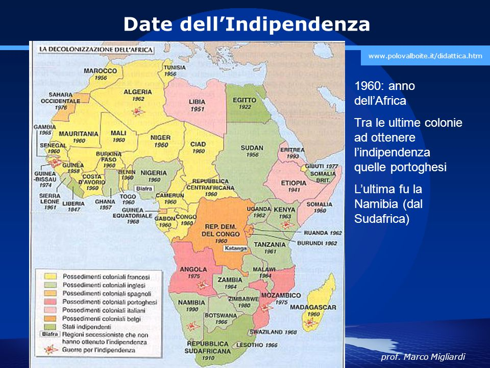 Date dell'Indipendenza