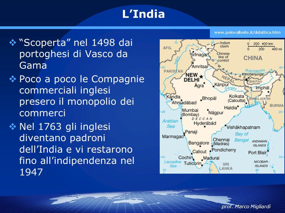 L'India Scoperta nel 1498 dai portoghesi di Vasco da Gama