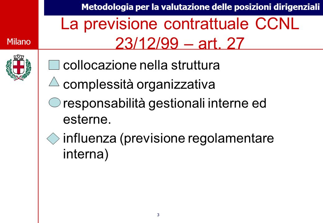 La previsione contrattuale CCNL 23/12/99 – art. 27