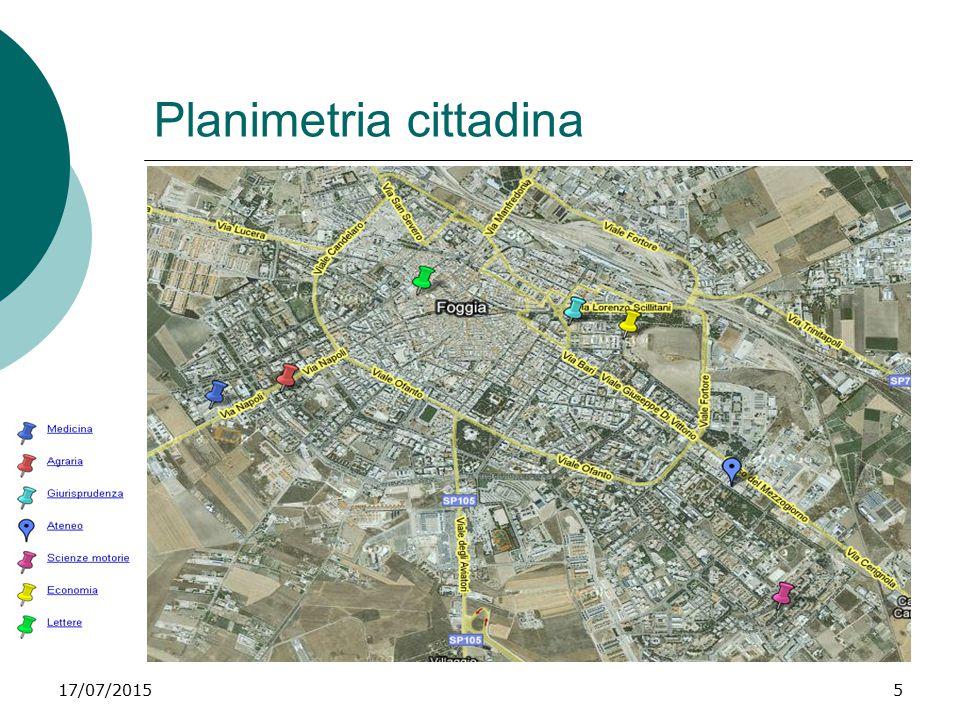 Planimetria cittadina