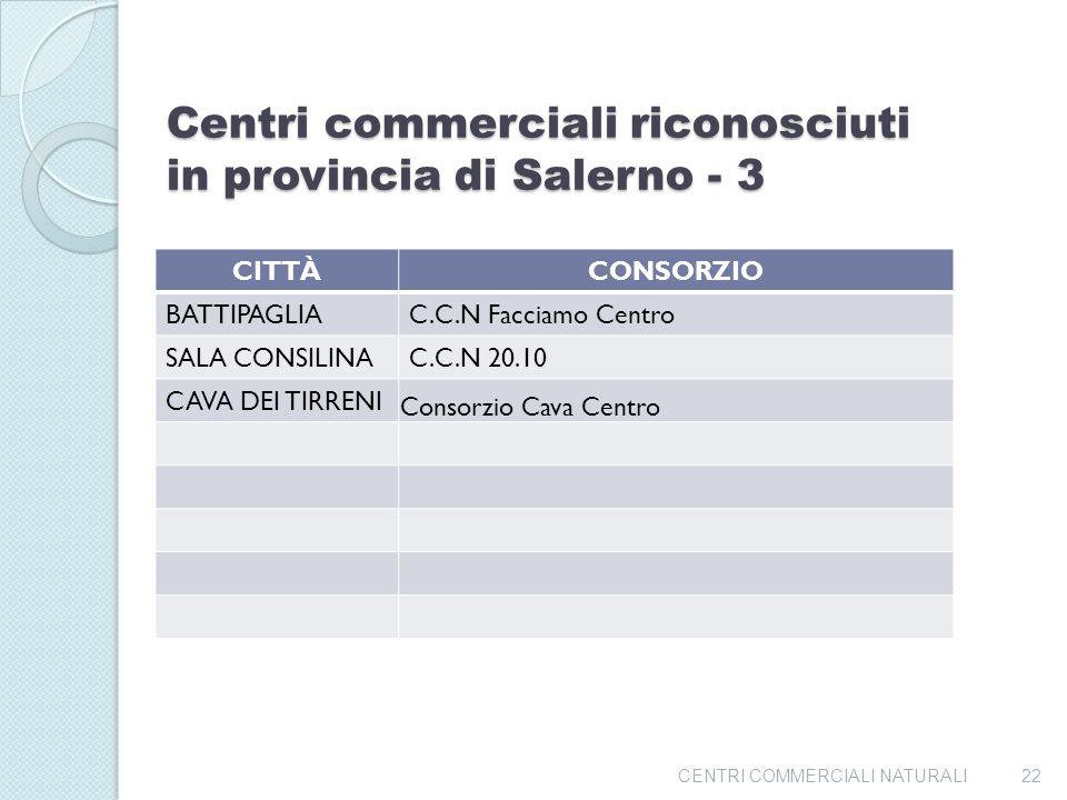 Centri commerciali riconosciuti in provincia di Salerno - 3