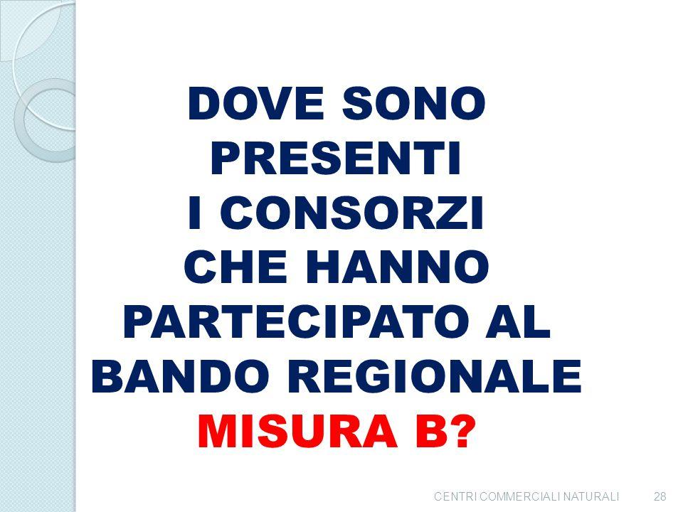 CHE HANNO PARTECIPATO AL BANDO REGIONALE MISURA B