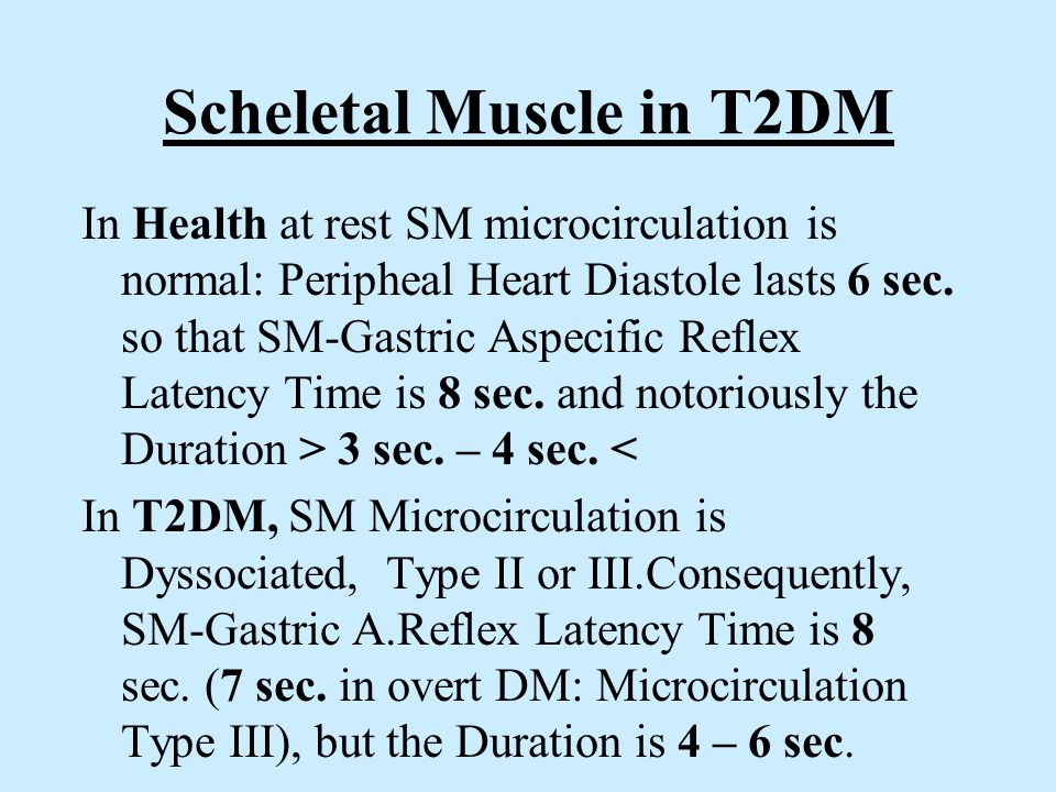 Scheletal Muscle in T2DM