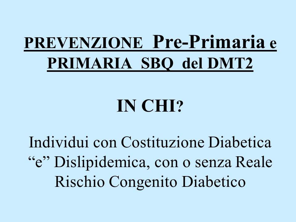 PREVENZIONE Pre-Primaria e PRIMARIA SBQ del DMT2 IN CHI