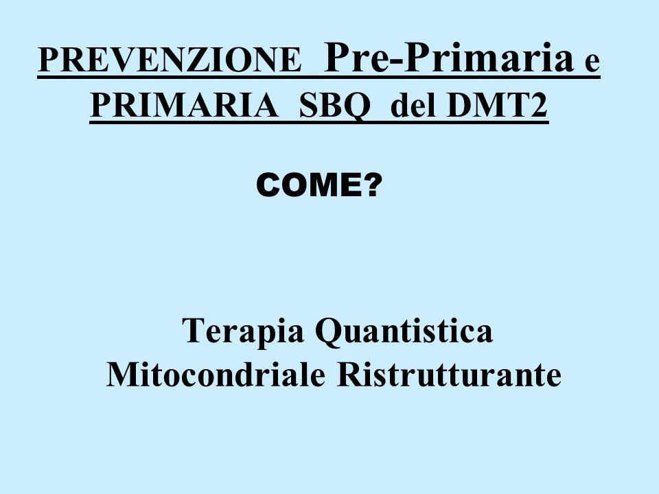 PREVENZIONE Pre-Primaria e PRIMARIA SBQ del DMT2 COME