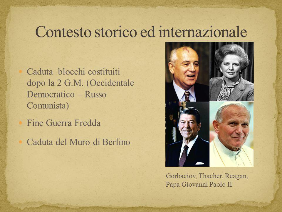 Contesto storico ed internazionale
