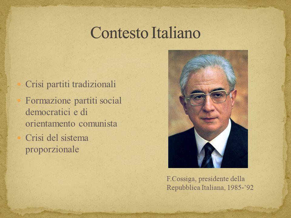 Contesto Italiano Crisi partiti tradizionali