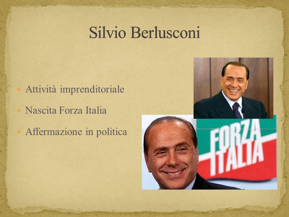 Silvio Berlusconi Attività imprenditoriale Nascita Forza Italia