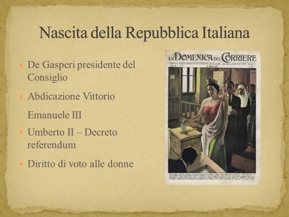 Italia repubblicana ppt scaricare for Repubblica italiana nascita