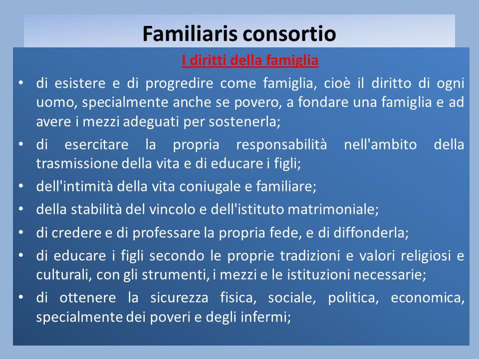 I diritti della famiglia