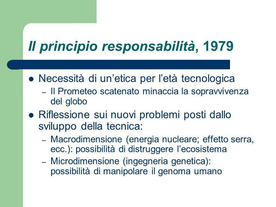 Il principio responsabilità, 1979