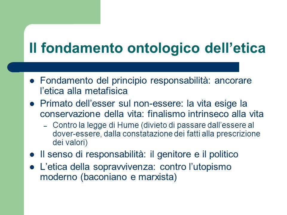 Il fondamento ontologico dell'etica