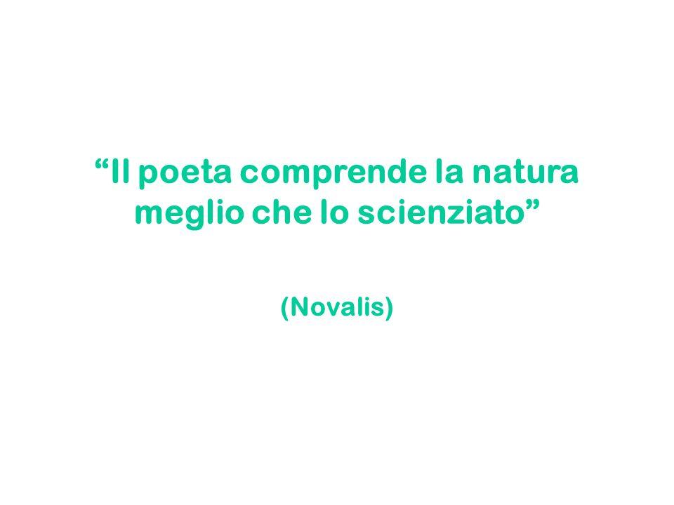 Il poeta comprende la natura meglio che lo scienziato