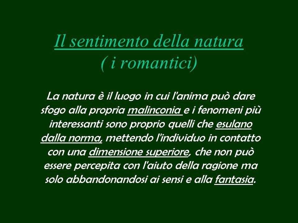 Il sentimento della natura ( i romantici)