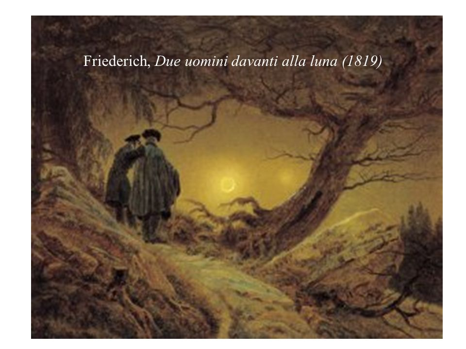 Friederich, Due uomini davanti alla luna (1819)